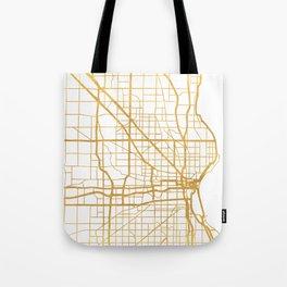 MILWAUKEE WISCONSIN CITY STREET MAP ART Tote Bag