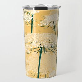 Queen Annes Lace Pattern | Yellow Travel Mug