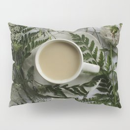 Flowers and Coffee Pillow Sham