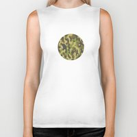 military Biker Tanks featuring Military Pattern by Crazy Thoom
