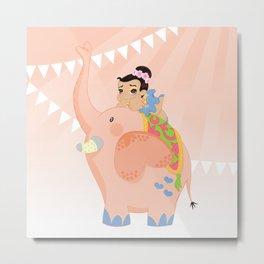 Pink circus Metal Print