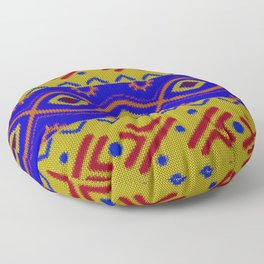Ethnic African Knitted style design Floor Pillow