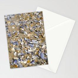 SHELLS ON SANDY BEACH Stationery Cards