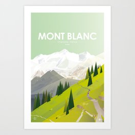 Alone In Nature - Là Haut Art Print