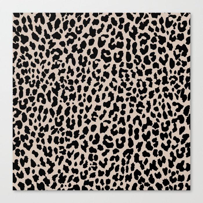 Tan Leopard Leinwanddruck
