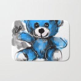Hello bear Bath Mat