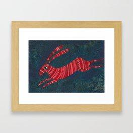 The gloomiest bunny Framed Art Print
