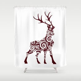 ornamental stag Shower Curtain