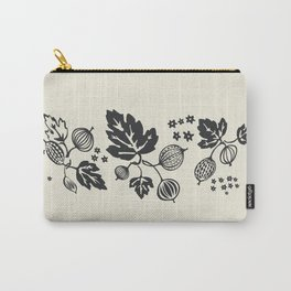 Black and White Gooseberry Stack Carry-All Pouch