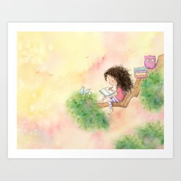 The Girl Who Wrote Stories Art Print