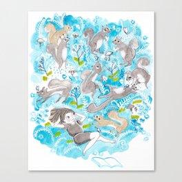 The Meadow Refuses No Squirrel Canvas Print