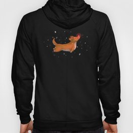 Rudolph, the Red Nosed Corgi Hoody