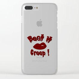 Beat it Creep! Cry Baby Clear iPhone Case