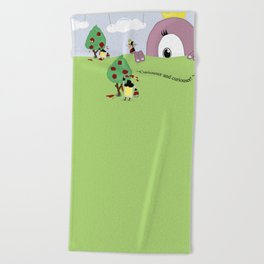 Off with Her Head! Beach Towel
