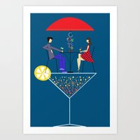 cocktail Art Prints featuring Cocktail by Aleksandra Mikolajczak