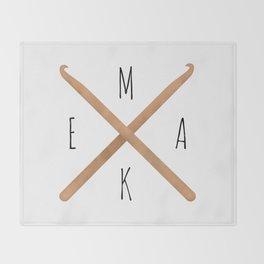 MAKE  |  Crochet Hooks Throw Blanket