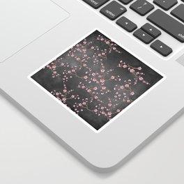 SAKURA LOVE - GRUNGE BLACK Sticker