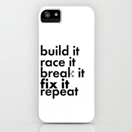 Project Car Racing Life Cycle Novelty Pride iPhone Case