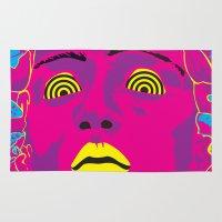 medusa Area & Throw Rugs featuring Medusa by Mario Sayavedra