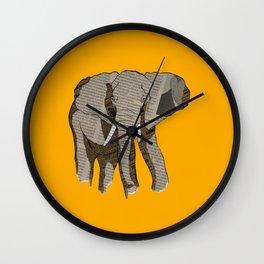 Newspaper Elephant Wall Clock