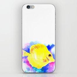 Yellow Angelfish iPhone Skin