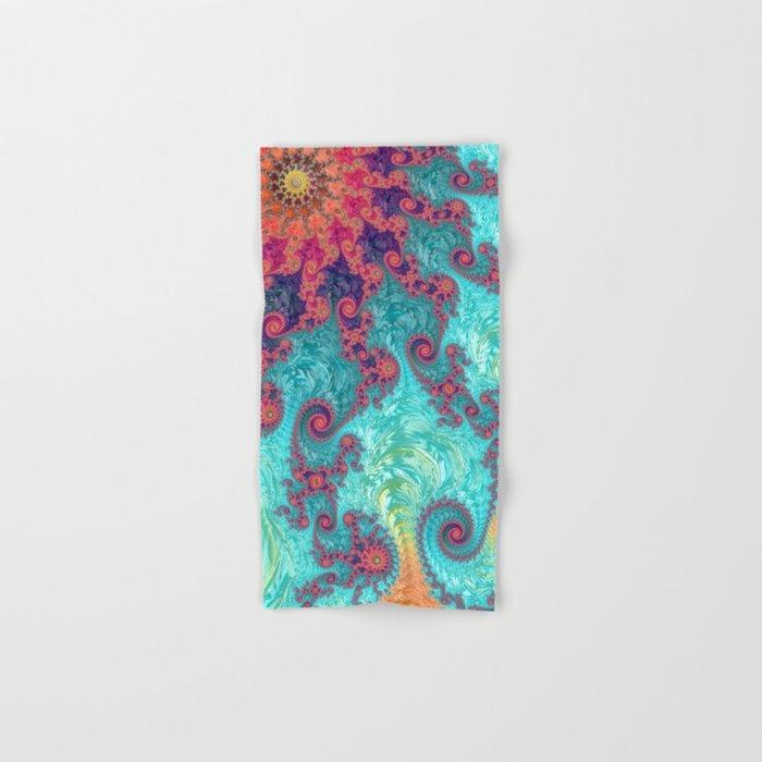 Rainbow Fractal Hand & Bath Towel