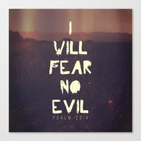 pocketfuel Canvas Prints featuring I will fear no evil - Ps 23:4  by Pocket Fuel