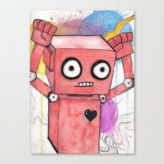 Robot Rage  Canvas Print