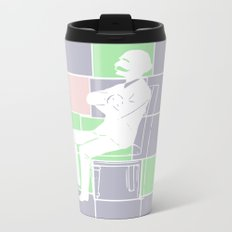 Think there and be square Metal Travel Mug