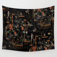 new year Wall Tapestries featuring new year by PAULTHEODORE