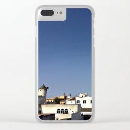Spanish Island Village Clear iPhone Case