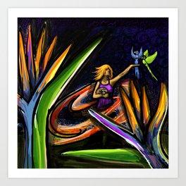 Hula Hooper on Fire Art Print