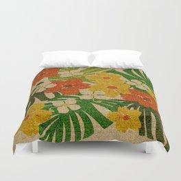 Limahuli Garden Hawaiian Floral Design Duvet Cover