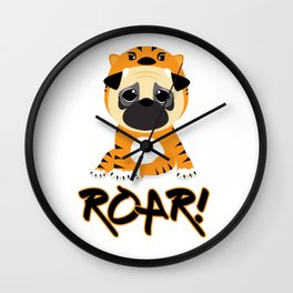 Pug Tiger Wall Clock