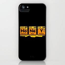 Honey Periodic Table Beekeeper Bee Hives Gift Idea Science   product iPhone Case