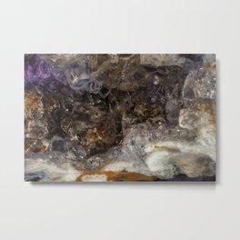 Tiny geode crystal cave #2 Metal Print
