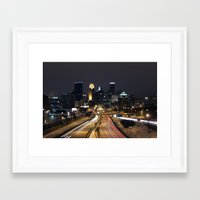 minneapolis Framed Art Prints featuring Minneapolis by Julie Jo Pederson