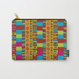 Abstract hand drawn Ethno design  in vivid colours. Carry-All Pouch
