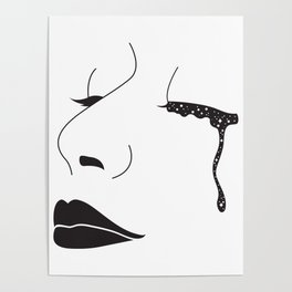 I Cried Galaxies Poster