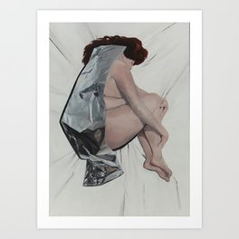 Girl with red hair 2014 Oil on Canvas 120 x 170 cm Art Print