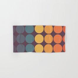 Classic Colorful Freehand Retro Dots Hand & Bath Towel