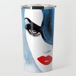 femme fatale - vintage style portrait of a woman Travel Mug