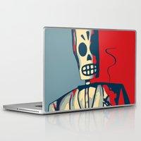 calavera Laptop & iPad Skins featuring Manny Calavera by RBenedetti