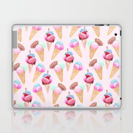 Ice cream Pattern summer cool watercolor Laptop & iPad Skin