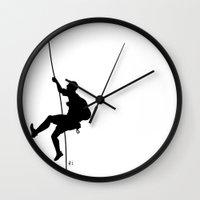 climbing Wall Clocks featuring climbing by AYAtokyo