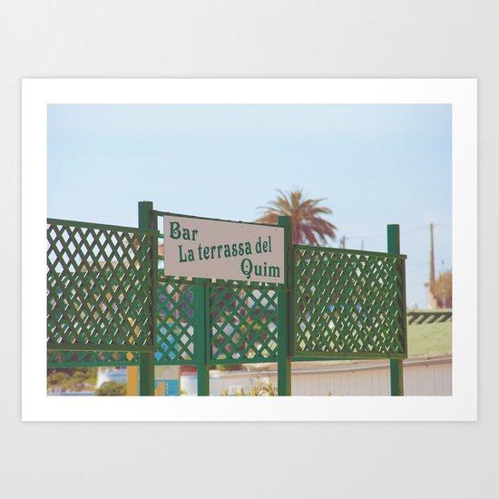 Terraza/Bar Art Print