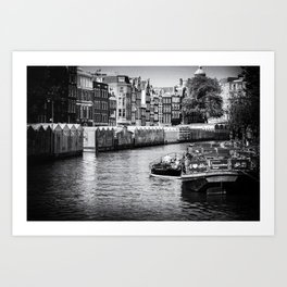The great Canals of Amsterdam | The Netherlands | Black & White | Travel Photography | Photo Print | Art Print Art Print