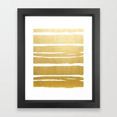 Gold Vibes Only #society6 #decor #buyart Framed Art Print