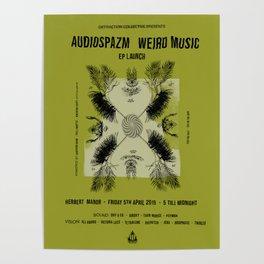 Audiospazm Weird Music Poster Poster