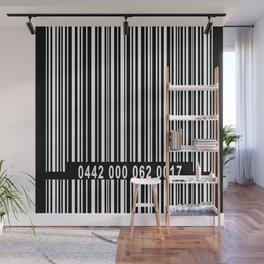 Barcode Inverse Wall Mural
